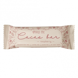 NEW Raw me cocoa bar málnás, 40g